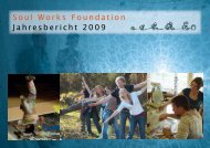 Broschüre Jahresbericht - Soul Works Foundation