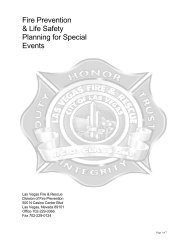Fire Prevention & Life Safety Planning for ... - City of Las Vegas