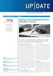 Themen in dieser Ausgabe - Inspecta Treuhand AG