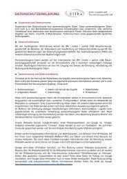 Datenschutz - Dffk Kröller & Partner Steuerberatungsgesellschaft