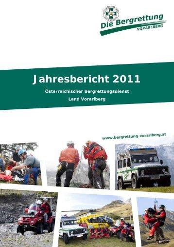 Jahresbericht 2011 - Bergrettung Vorarlberg