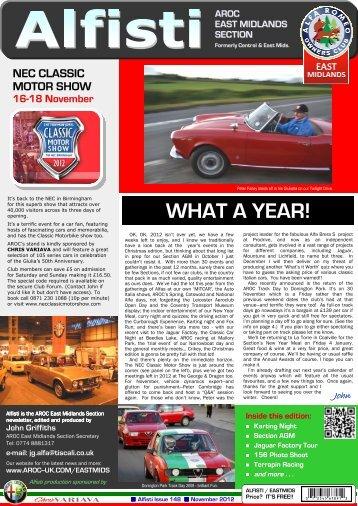 WHAT A YEAR! - Alfa Romeo Owners Club
