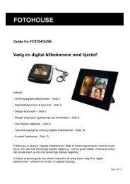 Vælg en digital billedramme med hjertet! - Fotohouse