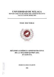 Régimen Jurídico Administrativo de la Seguridad Privada en España