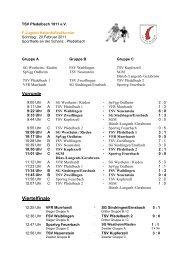 gehts zu den Ergebnissen der F-Jugend - TSV Pfedelbach