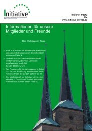 Infobrief 1/2012 - Initiative eV