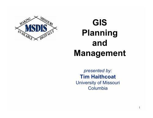 GIS Tools MoGIS 99 - Missouri Spatial Data Information Service