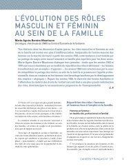 L'évoLution des rôLes masCuLin et féminin au sein de La famiLLe