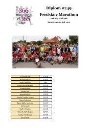 Lene Diplom #249 Fredskov Marathon - Annette Fredskov