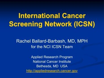 International Breast Cancer Screening Network - Applied Research ...