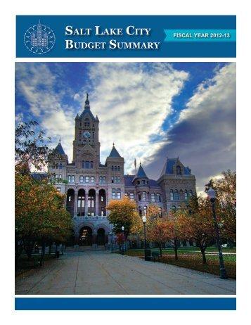 2012-2013 Budget Summary
