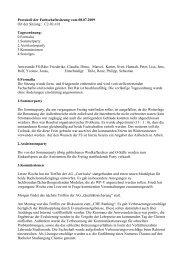 Fachschaftsratsitzung vom 08.07.2009 - Fachschaft Chemie