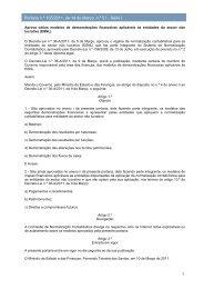 Portaria n.º 105/2011, de 14 de Março - Portal das Finanças