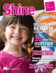 Shine, Volume 1, February 2009 - Department of Education and ...