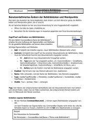 Benutzerdefiniertes Ändern der Befehlsleisten und ... - Klassenwiki