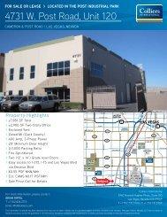 4731 W. Post Road, Unit 120 - Property Line
