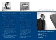 Bildbearbeitung Layout - Text - Satz Internet Vorträge - dr-messner.de