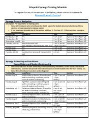 Edupoint/Synergy training schedule for June - August
