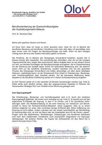 Text des Vortrags - OloV