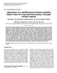Zhang et al., 2010. - Climate and Vegetation Research Group