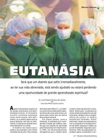 Eutanasia - Revista Cristã de Espiritismo