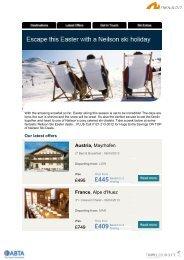 Austria, Mayrhofen £495 France, Alpe d'Huez £749 - Travel Club Elite