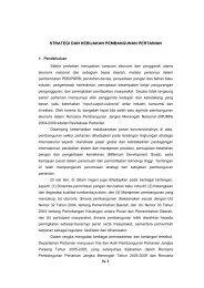 Strategi dan Kebijakan Pembangunan Pertanian - Pusat Sosial ...