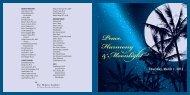 Peace, Harmony &Moonlight - The Melissa Institute