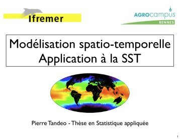 Modélisation spatio-temporelle d'une variable quantitative à partir ...