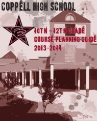 2013-14 CHS 10-12th Grade Course Guide - Coppell Independent ...