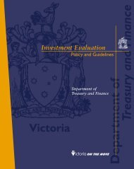 Investment evaluation policy and guidelines 1996 - Department of ...