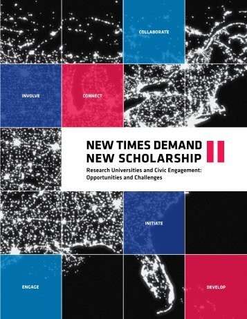 New Times Demand New Scholarship II - Campus Compact