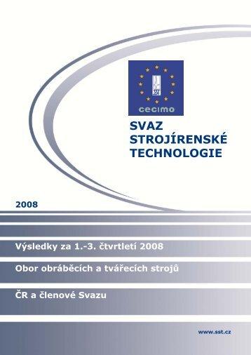 Výsledky oboru za 1.-3.čtvrtletí 2008 ČR (PDF, 1.03 MB) - Svaz ...