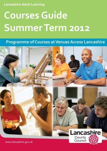 Courses Guide Summer Term 2012 - Lancashire County Council