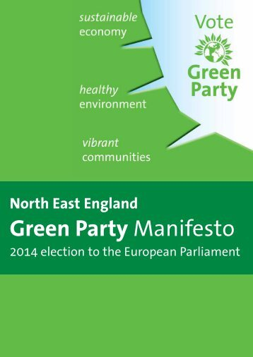 The North East Green Party 2014 Euro Manifesto