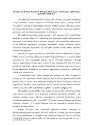 Ziņojums par Latvijas Republikas 2011. gada pārskatu ... - Valsts kase