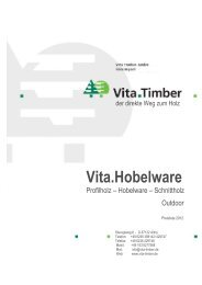 Vita.Hobelware - Vita Timber GmbH