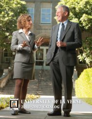 2011 – 2012 Catalog - Faculty Web Hosting - University of La Verne