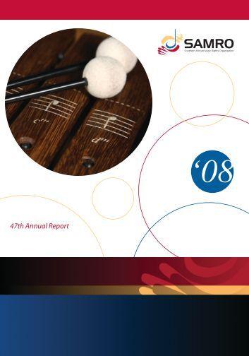 Annual Report 2008 - samro