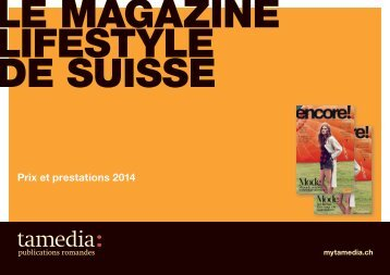 Prix et prestations 2013 - anzeigenpreise.ch
