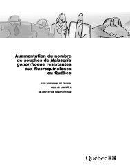Augmentation du nombre de souches de Neisseria gonorrhoeae ...