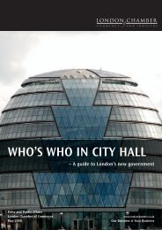 WHO'S WHO IN CITY HALL - London Chamber of Commerce and ...