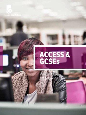 ACCESS & GCSEs - Leeds City College