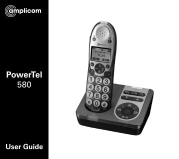 PowerTel 580 User Guide - Action On Hearing Loss