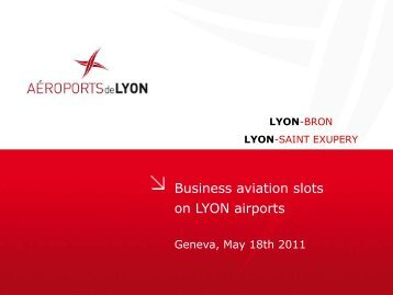 Business Aviation Slots on LYON Airports, Eric Dumas - eBace