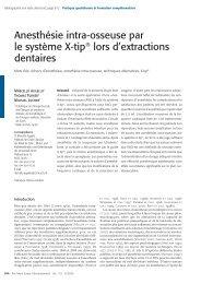 Anesthésie intra-osseuse par le système X-tip® lors d ... - SSO