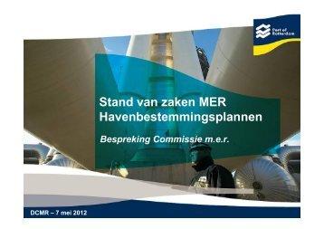 Presentatie Stand van Zaken MER Havenbestemmingsplannen