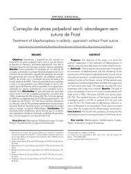 Correção de ptose palpebral senil: abordagem sem ... - ABCCMF