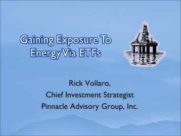 Gaining Exposure To Energy Via ETF's