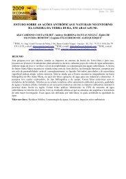 estudo sobre as ações antrópicas e naturais no entorno da lixeira ...